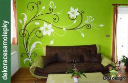 Samolepka dekorace na zeď ART květy velké