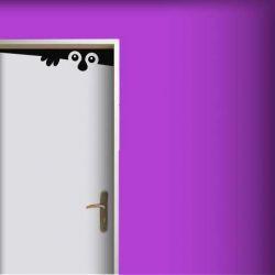 Samolepka na dveře bubák nosáč
