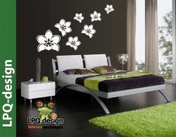 Nálepka tapeta na zeď květy orchideje