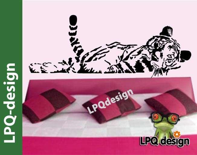 Dekorace na zeď Tygr ležící VELKÉ