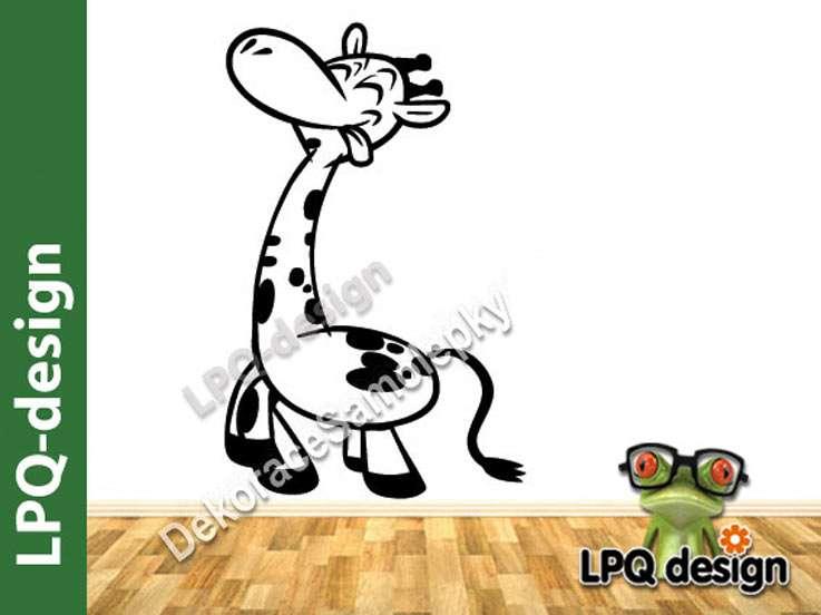 Samolepka, tapeta na zeď žirafa běžící