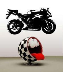 Samolepka na stěnu Honda_CBR motorka