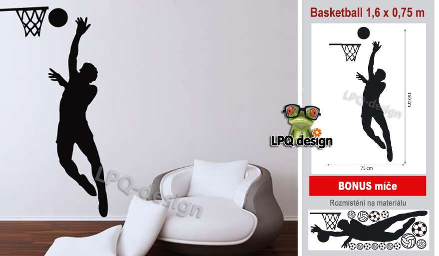 Samolepící tapeta na stěnu basketball_BONUS