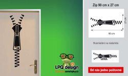 Designová samolepka zip