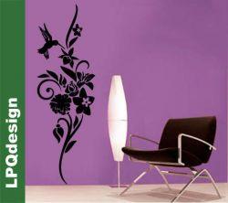 samolepící dekorace na zeď kolibřík