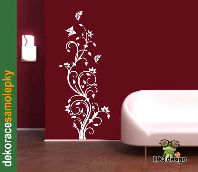 tapeta, samolepka, dekoprace na zeď ZVONKY_FLOWERS