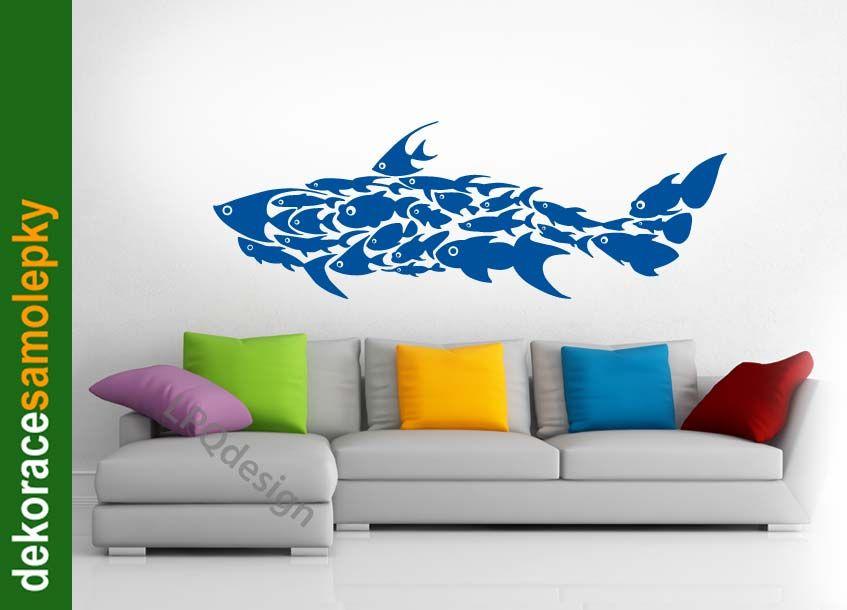 Samolepící dekorace na zeď Žralok LPQdesign