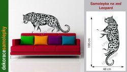 nálepka, tapeta na zeď leopard