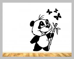 Zvětšit fotografii - Samolepící dekorace na zeď medvídek PANDA