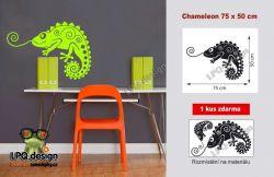 Samolepka na stěnu chameleon 1 kus