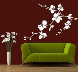 Samolepící dekorace na zeď Orchidej větev