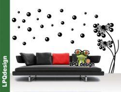 Samolepka na zeď Pampeliška bublinky