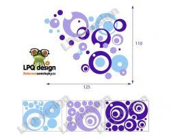 dekorace color bubliny, kruhy