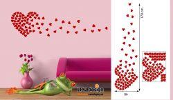 Samolepky na stěnu Srdce srdíčka
