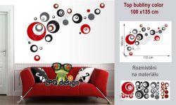 samolepící tapeta na zeď kruhy bubliny LPQdesign