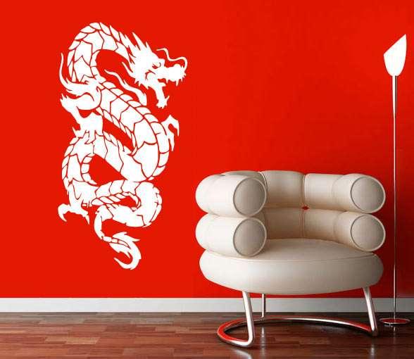 Samolepka na zeď čínský drak