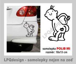 Samolepka na auto Polib mi