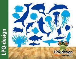 samolepka akvárium