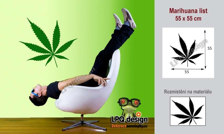 samolepka marihuana