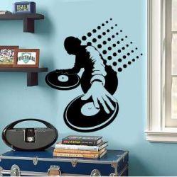 Samolepka na stěnu DJ