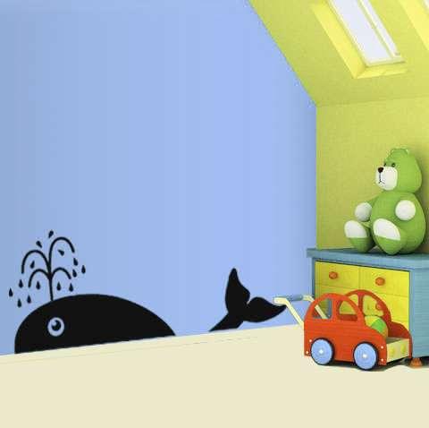 Dětská samolepka - velryba