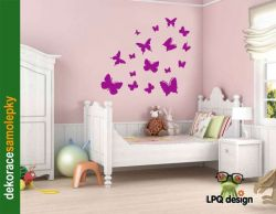 samolepka motýlci
