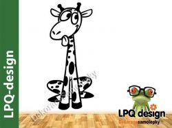 Dekorace na zeď žirafa sedící
