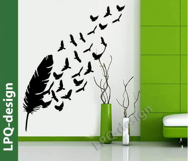 samolepka na zeď peříčko