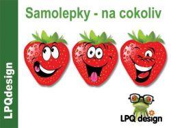 Samolepky na zeď Happy jahody