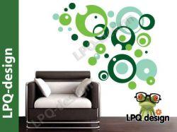 Samolepky na zeď color bubliny zelené