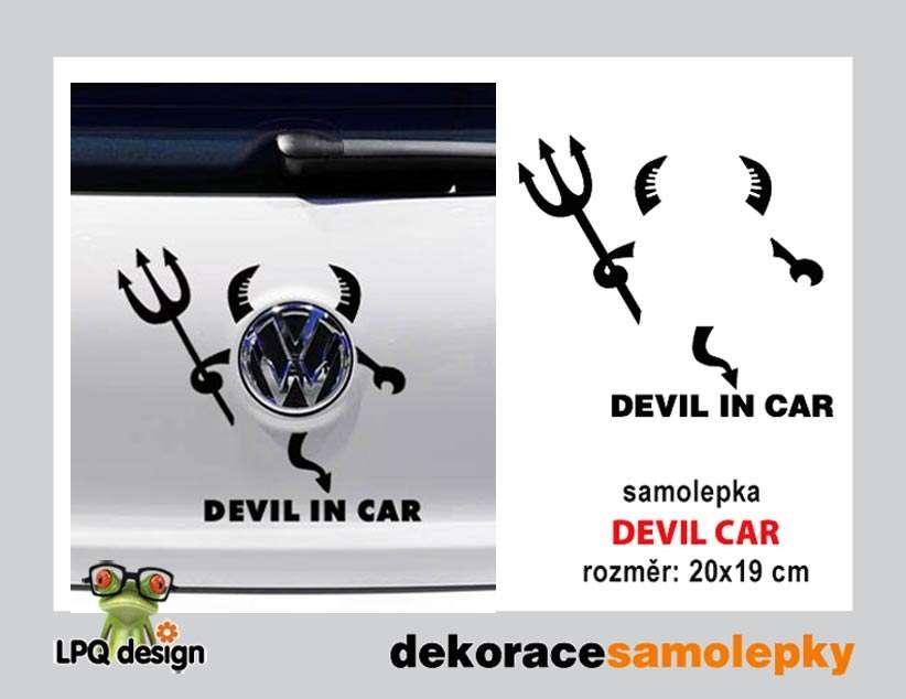 Samolepka na auto DEVIL CAR