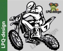 samolepka motokros