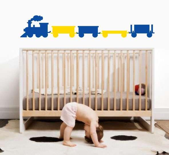 Dětská samolepka - vláček