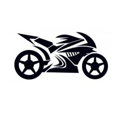 samolepka Motorka silueta 04