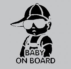 dítě v autě BABY ON BOARD kluk