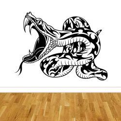Samolepka na stěnu had