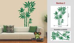 samolepka na zeď bambus