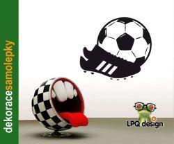 Samolepící tapeta Kopačka, míč, fotbal
