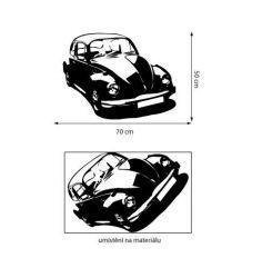 Samolepka na zeď cars VW Brouk