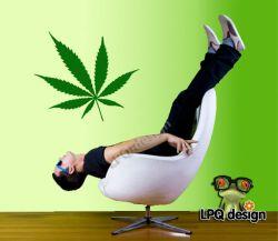 Samolepka na zeď Marihuana