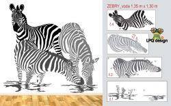 samolepky zebra