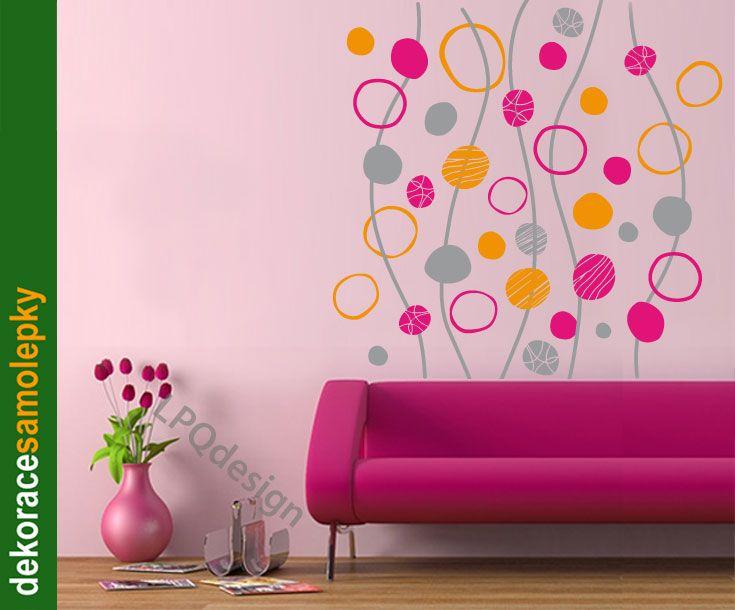 samolepka barevné bublinky