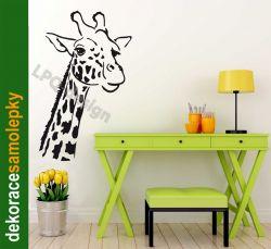 Samolepka na zeď žirafa hlava